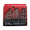 9pcs mix drill bit set in plastic box