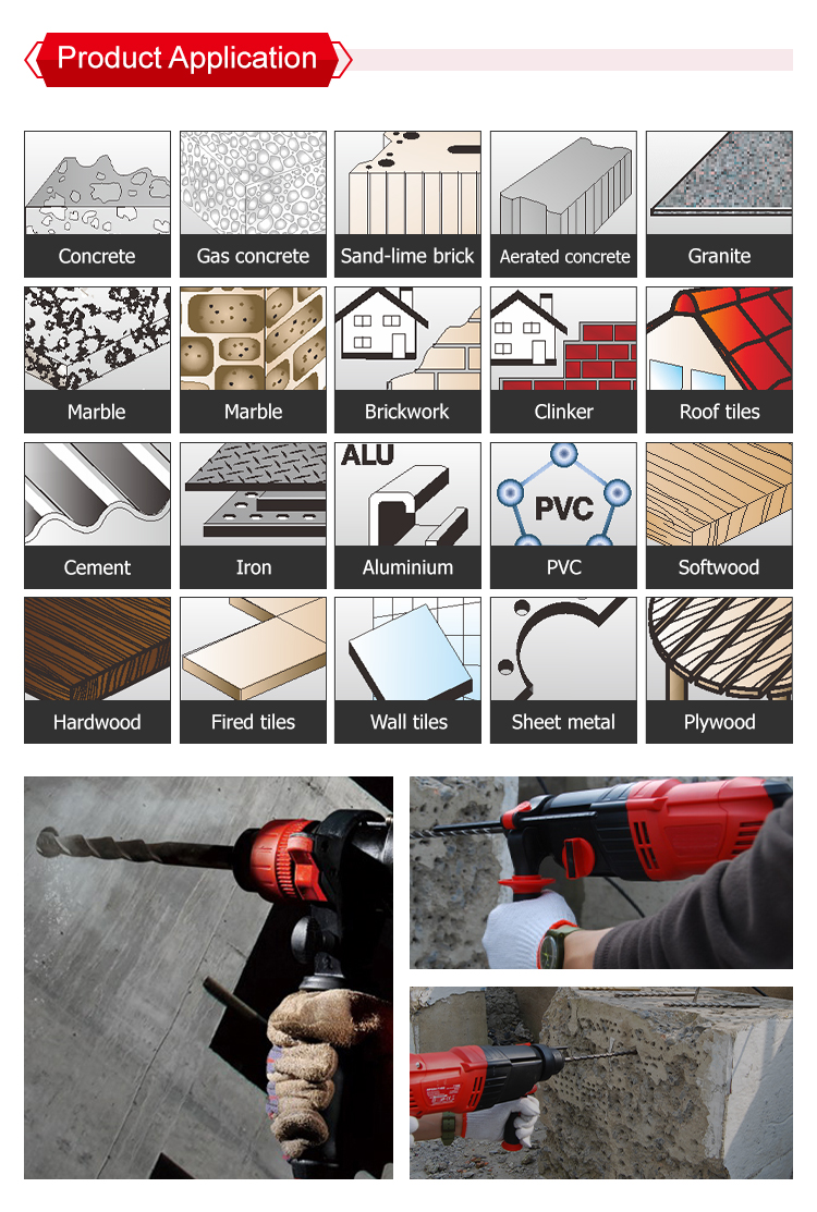 Multipurpose SDS plus Hammer Drill Bits