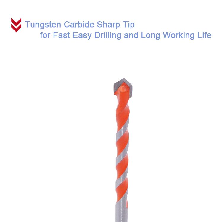 TCT Universal Drill Bits with 3 Flat Shank