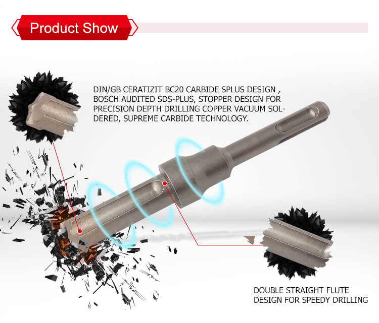 Industrial Quality Quick Stop SDS plus Hammer Drill Bits