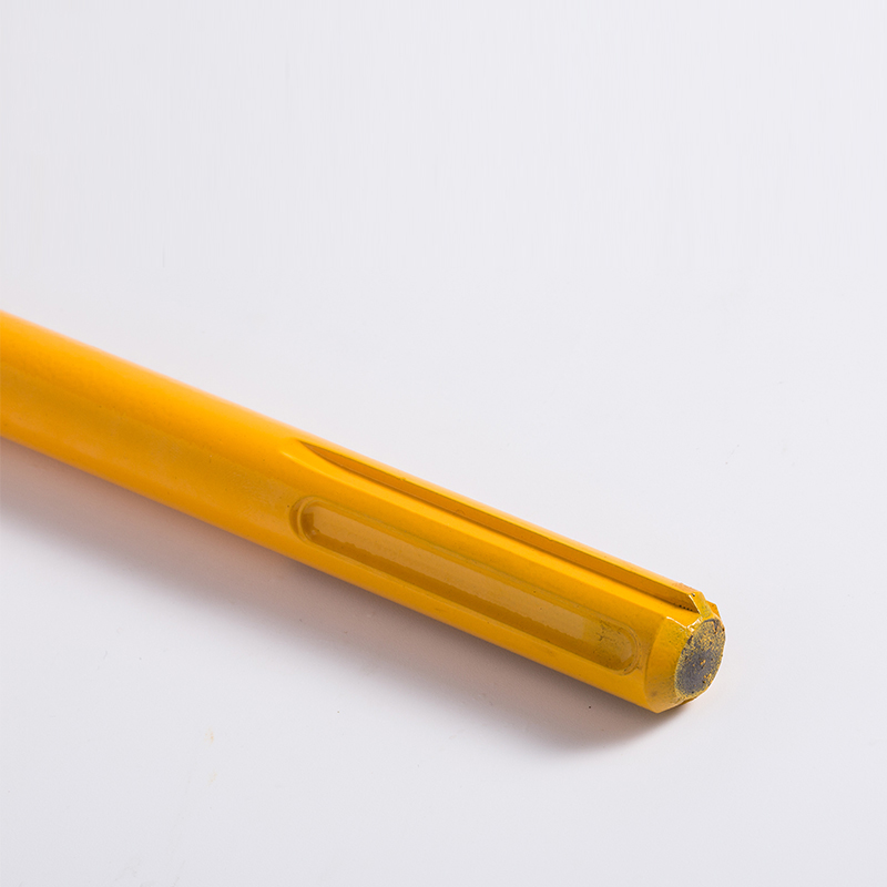 Patented SDS max Grooved Point Chisel with Paint.