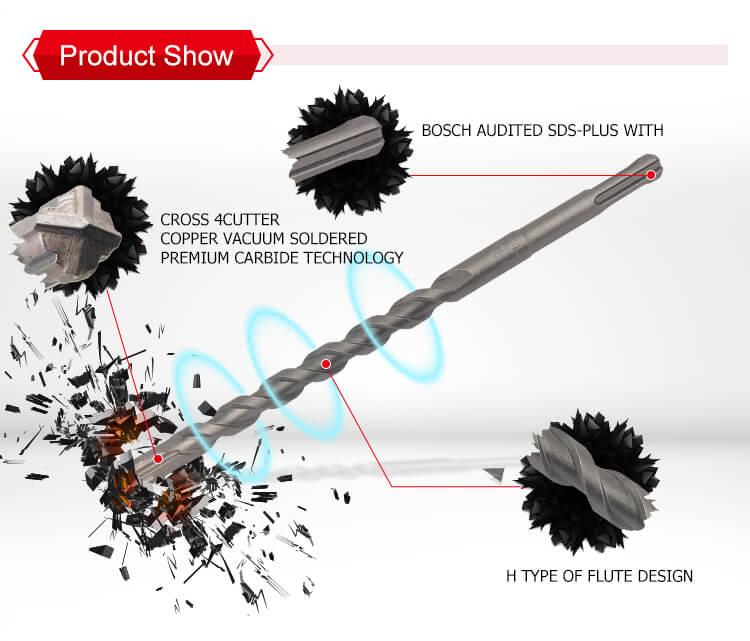 SDS plus Hammer Drill Bits Cross Cutters