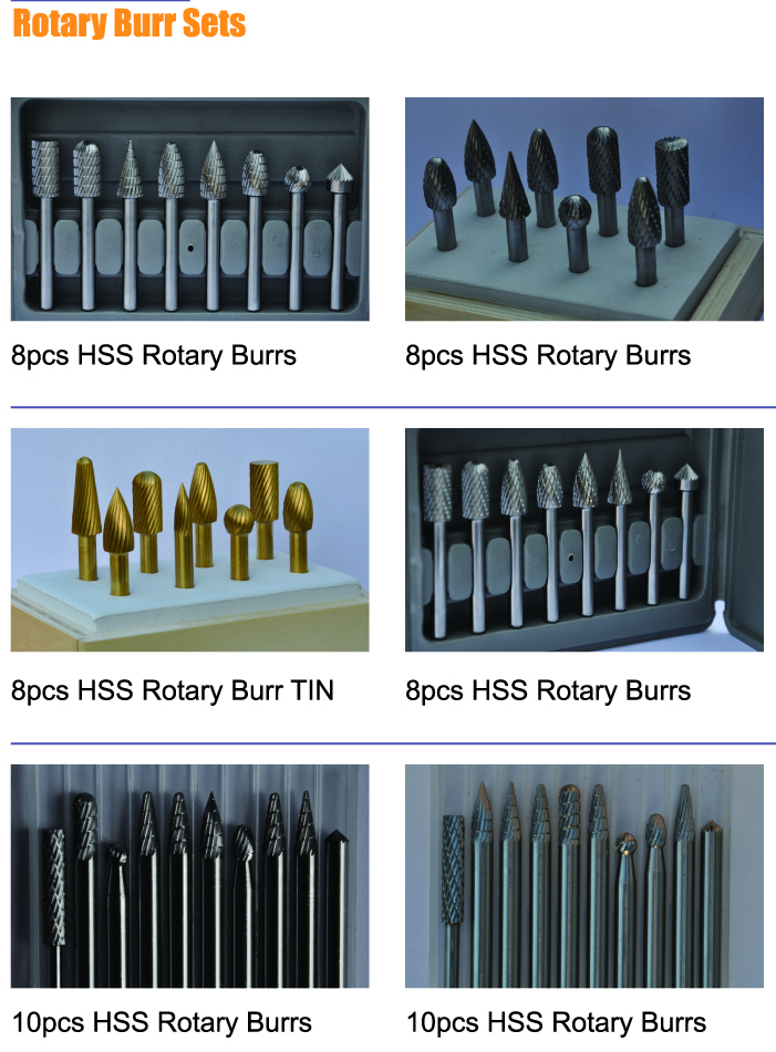 HSS Rotary Burr Sets