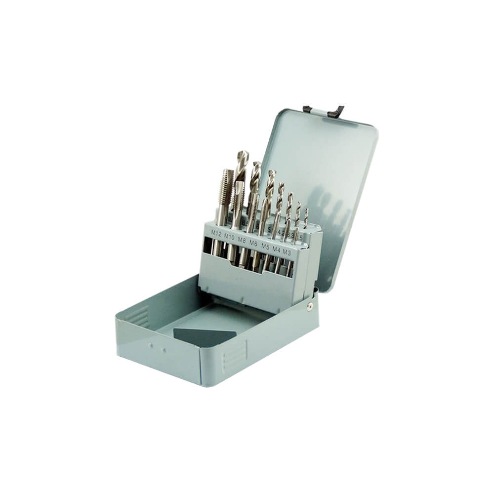 14Pcs Metric Hand Tap and Drill Bit Combination Sets