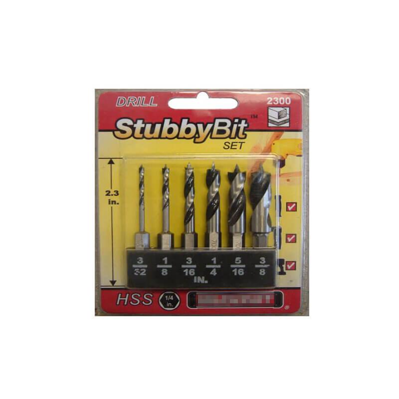 Hex Shank Stubby HSS Brad Point Drill Bits