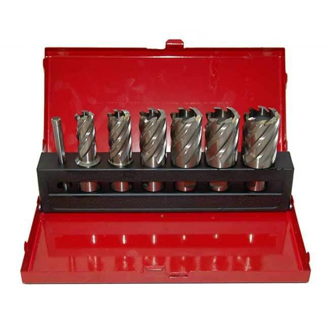 7pcs HSS Annular Cutter Set in metal box