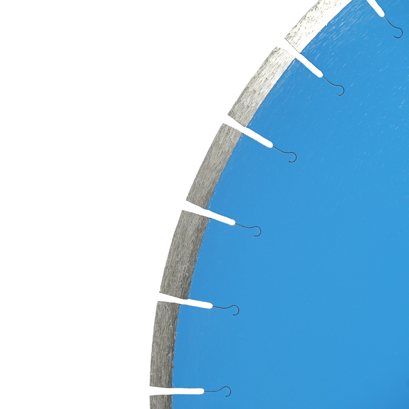 Laser Welded Diamond Floor Saw Blades for Reinforced Concrete with Slant Teeth